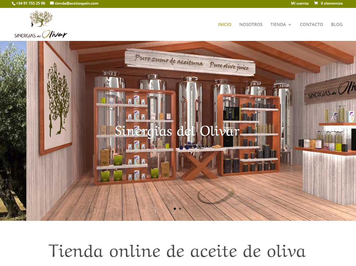 Web Aceite Spain